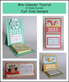 Craft Tutorial Mini Calendar Projects (by JustDelightfulCards on Etsy) Diy Calendar, Desk Calendars, Calendar Templates, Advent Calendar, Merci Gif, Gifts For Colleagues, Mini, Easel Cards, Nouvel An