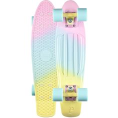 Penny Painted Fades Candy Original Skateboard ($125) ❤ liked on Polyvore featuring men's fashion and multi