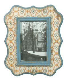 Loving this Blue Wood Frame on #zulily! #zulilyfinds