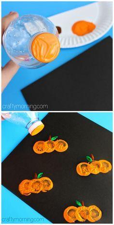 Halloween citrouille peinture bouchon