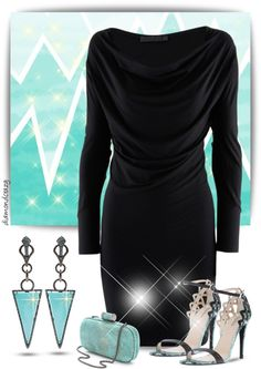 """Wendy Yue Turquoise Triangle Drop Earrings"" by diamondcrazy ❤ liked on Polyvore"