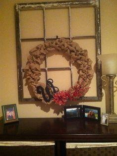My first burlap wreath!!