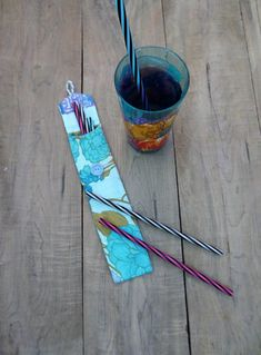 Aqua Reusable straw case, zero waste, Reusable straw bag made from recycled fabric Recycled Fabric, Couture, Bag Making, Straw Bag, Recycling, Creations, Turquoise, Boutique, Sewing
