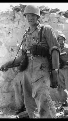 German paratrooper, somewhere in the Mediterranean theater of operations.