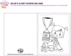 Chloe's Toverkast Vaderdagkaart, om zelf te printen!