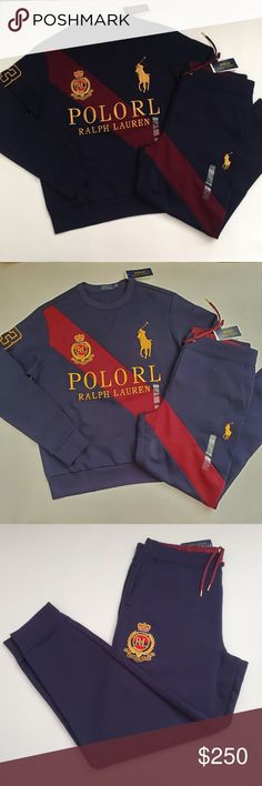 RALPH LAUREN CHARCOAL GRAY  BIG PONY MATCH CREST RUGBY NWT S SMALL