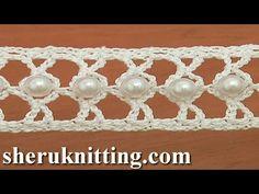 How to Crochet a Beaded Narrow Tape Tutorial 21 - YouTube
