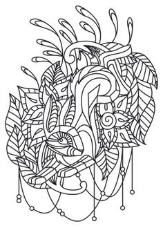 Fresh, creative designs and tutorials for machine and hand embroidery. Pattern Coloring Pages, Adult Coloring Book Pages, Coloring Pages To Print, Colouring Pages, Coloring Sheets, Coloring Books, Needlepoint Patterns, Embroidery Patterns, Rabbit Crafts