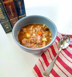 Rohan Beef Stew - A Lord of the Rings Recipe — Fictional Fare Rustic Bread, Food Themes, Copycat Recipes, Yummy Recipes, Lord Of The Rings, Love Food, Holiday Recipes, Stew, Food And Drink