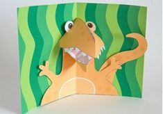 Dino pop up card Site Brother