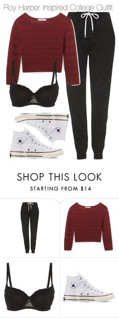 """""""Roy Harper Inspired College Outfit"""" by staystronng ❤ liked on Polyvore featuring Topshop, Rebecca Minkoff, Converse, Arrow, college, autumn and royharper"""