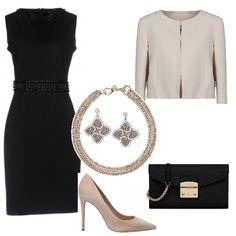Outfit elegante e raffinato per la donna semplice e raffinata dai colori  basici. Per ogni