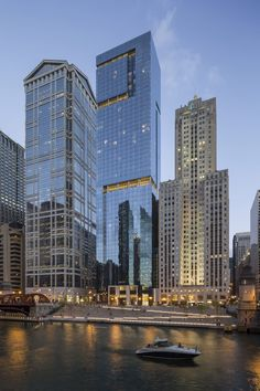 OneEleven converted a long-abandoned eyesore on the Chicago River into a luxury residential building. Chicago River, Abandoned, New York Skyline, Exterior, Luxury, Architecture, Building, Travel, Voyage