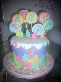 lollipop candy cake