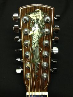 "Larrivee L05 - ""Mucha Lady"" inlay"
