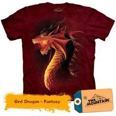 Tricouri The Mountain – Tricou Red Dragon Red Dragon, Dark Fantasy, Dragons, Horror, Mountain, 3d, Kite, Rocky Horror, Kites