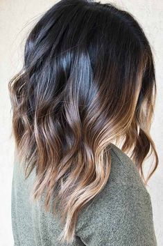 Dark Brown Hair With Highlights Balayage, Brown Blonde Hair, Brown Lob, Chunky Highlights, Brunette Highlights, Medium Dark Brown Hair, Brown Brown, Hair Colors, Natural Looks