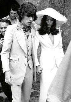 via www.vintageweddingfair.co.uk blog - Mick Jagger and Bianca Pérez-Mora Macias