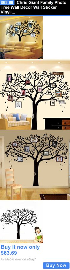 household items: Chris Giant Family Photo Tree Wall Decor Wall Sticker Vinyl Art Home Decals New BUY IT NOW ONLY: $63.69