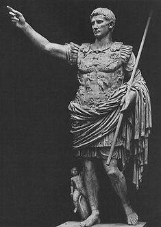 Emperor Augustus, formerly Octavius, the first Roman Emperor.