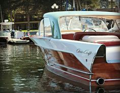 1958 Chris Craft Speed Boats, Power Boats, Lakeside Ohio, Chris Craft Boats, Classic Wooden Boats, Classic Yachts, Ferry Boat, Vintage Boats, Float Your Boat