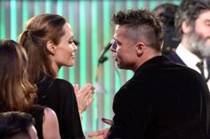 Brad Pitt and Angelina Jolie shared a sweet moment at the Spirit Awards