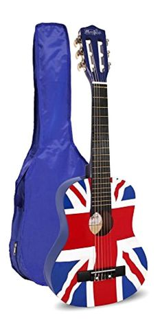 Junior Guitar for Kids Beginners Union Jack Flag Design Ages 3-8 Music Alley