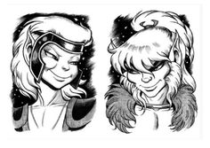Skywise on the left, Cutter on the right.   Wendy and Richard Pini WIN at bromance. ElfQuest. Read it.