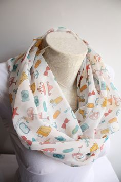 Ice Cream Print Scarf  Starfish Scarf  Summer Infinity Scarf  Camera Scarf  Women Accessories  Gift İdeas by dreamexpress from dreamexpress on Etsy. Find it now at http://ift.tt/1suYPLz!