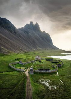 Abandoned Viking village on the east coast of Iceland! Beautiful World, Beautiful Places, Vikings, Space Opera, Viking Village, Iceland Landscape, Secret Places, Iceland Travel, Famous Places