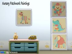 Nursery Patchwork Paintings at Just For Your Sims • Sims 4 Updates
