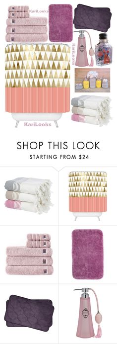"""""""Bath 💜"""" by karilooks ❤ liked on Polyvore featuring interior, interiors, interior design, home, home decor, interior decorating, IGH, DENY Designs, Lexington and Mohawk"""