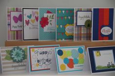 Birthday Card Set. 10 Happy Birthday Greeting Cards. by DandACards