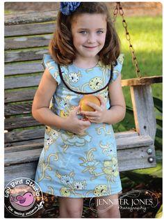 Lily Bird Studio PDF Sewing Pattern - Kates Dress - 12 mths to 8 yrs -  A-line, 2 yoke options, lined bodice FREE Shipping