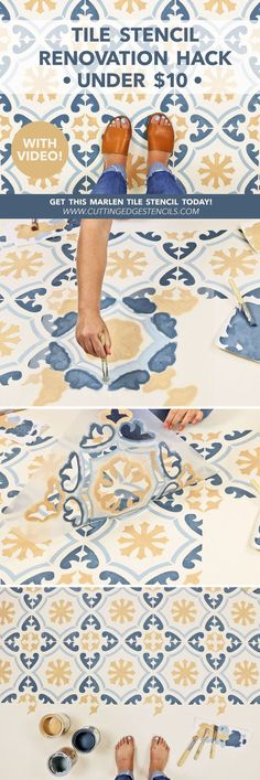 1216 Best Stenciled & Painted Floors images in 2019 | Stenciled