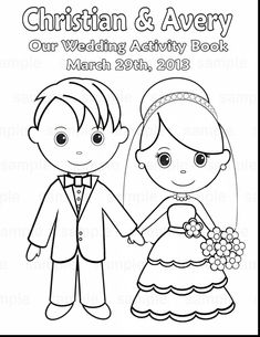 Printable Personalized Wedding coloring activity book for kids - so cute! And a great way to keep the kids occupied. Mothers Day Coloring Pages, Wedding Coloring Pages, Coloring Pages To Print, Coloring Pages For Kids, Coloring Books, Colouring, Kids Table Wedding, Wedding With Kids, Wedding Book