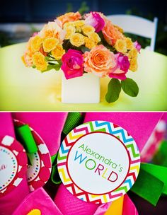 centerpieces and tags