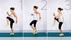 High Knees | #StartTODAY: Try Jenna Wolfe's core / cardio workouts at home | The Today Show