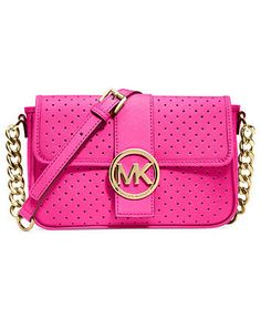 MICHAEL Michael Kors Handbag, Fulton Small Perforated Messenger Bag - Michael Kors Handbags - Handbags & Accessories - Macy's