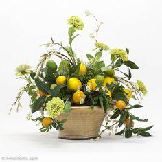 Lemon Arrangement in ceramic container!