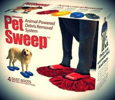 Deal of the day: Animal-Powered Debris Removal System. Just joking. These are ridiculous! #dealsealer #funnyproducts