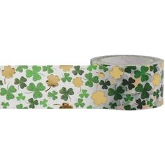 Shamrock Green and Gold Foil Washi Tape, 25mm Wide with Cutter by Little B