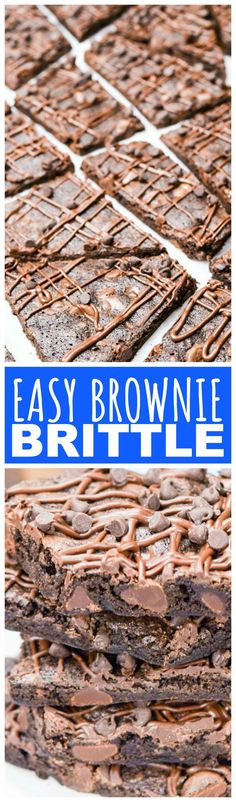 If you like the thin, crispy, top crust from a pan of classic brownies or the crispy corners, then this Easy Brownie Brittle is just the recipe for you!