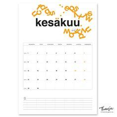 Kesäkuun 2020 tulostettava seinäkalenteri #june2020 #kalenteri #tulostettava #ilmainen #calendar #print #free #virtasia