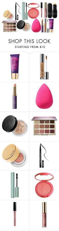 """""""Vacation Makeup"""" by basically-haileee on Polyvore featuring beauty, tarte, Urban Decay, beautyblender, Kat Von D, Too Faced Cosmetics, Huda Beauty and Bite"""