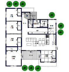 5LDKの34.5坪の平屋