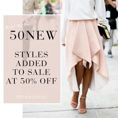 NEW STYLES ADDED TO SALE AT 50% OFF GET IN QUICK SHOP HERE: http://www.esther.com.au/collections/sale