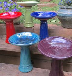 Ceramic Short Bird Bath