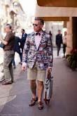 Nick Wooster rocks a madras patchwork blazer.