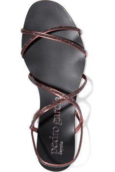 Pedro Garcia - Esme Swarovski Crystal-embellished Satin Sandals - Antique rose - IT37.5